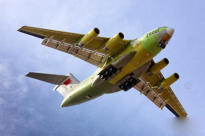"""我国首款自主战略重型运输机""""运-20""""起飞成功【3】"""
