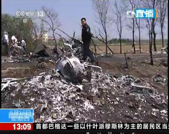 高清组图:沈阳浑南新区一小型飞机坠毁 坠落原因正在调查【4】