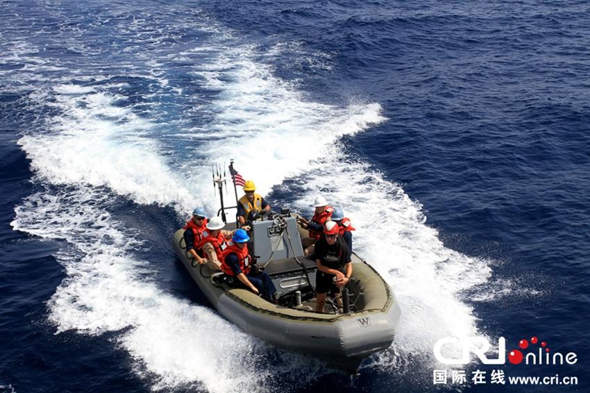 美国海军梅森号导航驱逐舰战斗小艇.邓曦光 摄