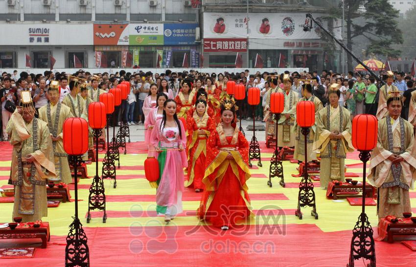 郑州首届汉式周制集体婚礼 30对新人喜结良缘【2】