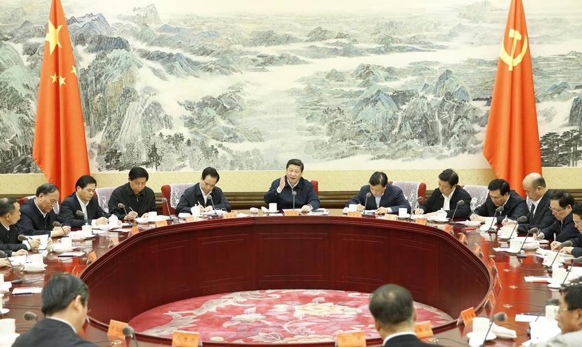 习近平同中华全国总工会新一届领导班子集体谈