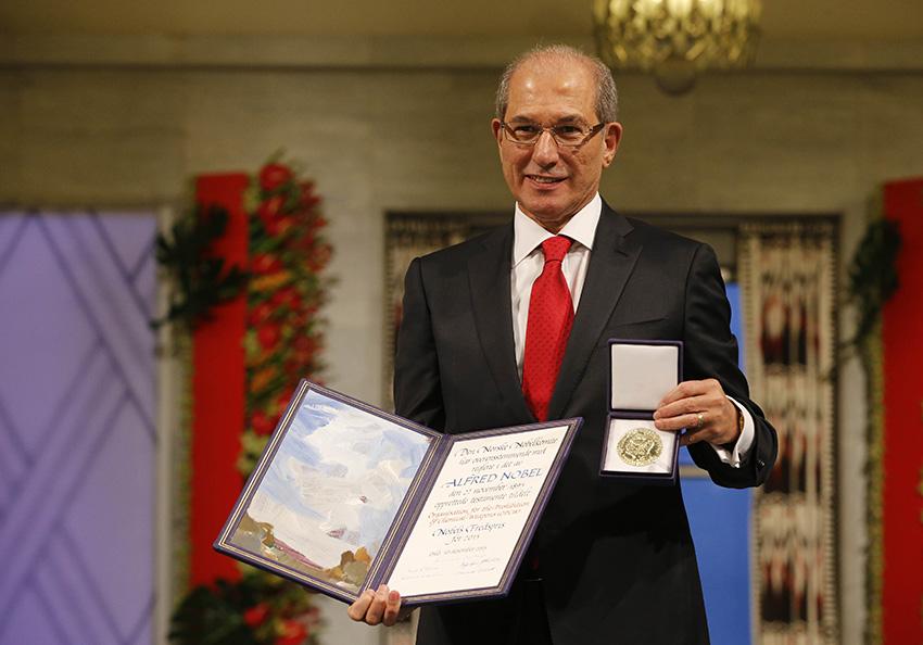 禁化武組織總干事領取諾貝爾和平獎