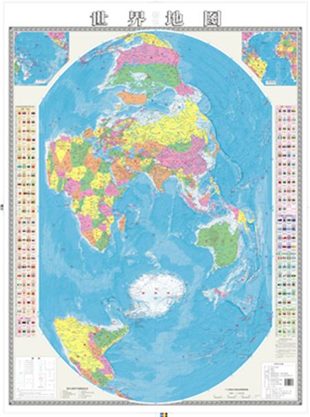 2014年4月,由湖北省地图院编制完成的1:3100万大全开
