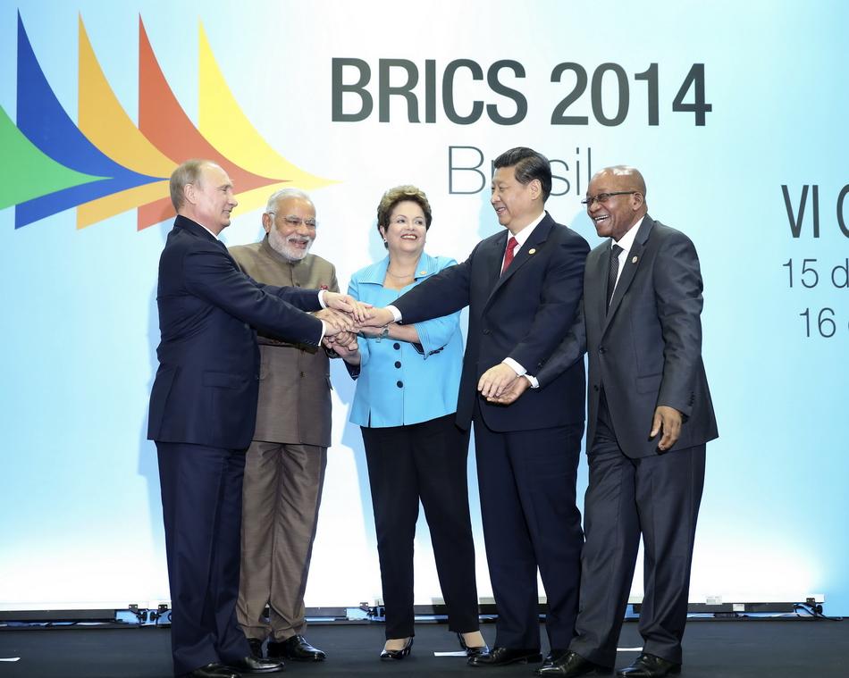 7月15日,国家主席习近平在巴西福塔莱萨出席金砖国家领导人第六次图片
