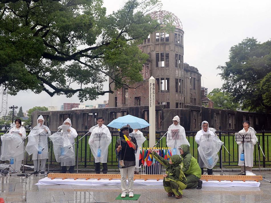 日本广岛纪念遭原子弹轰炸69周年【4】