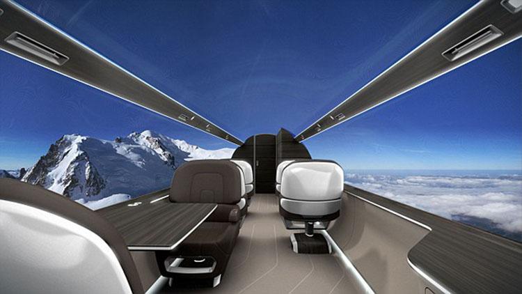 未来飞机概念图出炉 透明机身全景飞行不是梦【5】
