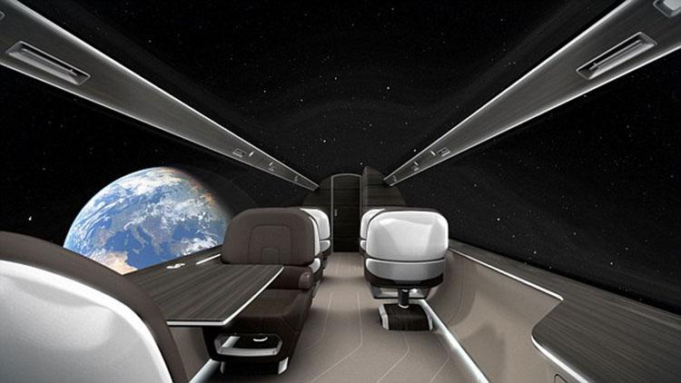 透明 飞机/未来飞机概念图出炉透明机身全景飞行不是......