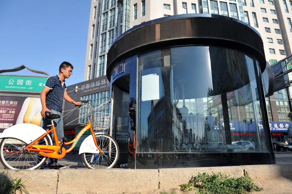 宁夏银川开启自助式自行车棚智能监控系统 自