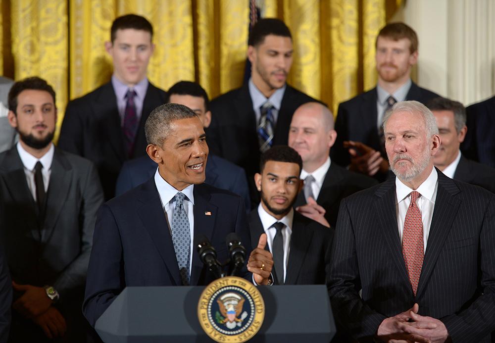 篮球——奥巴马接见马刺队 【2】图片
