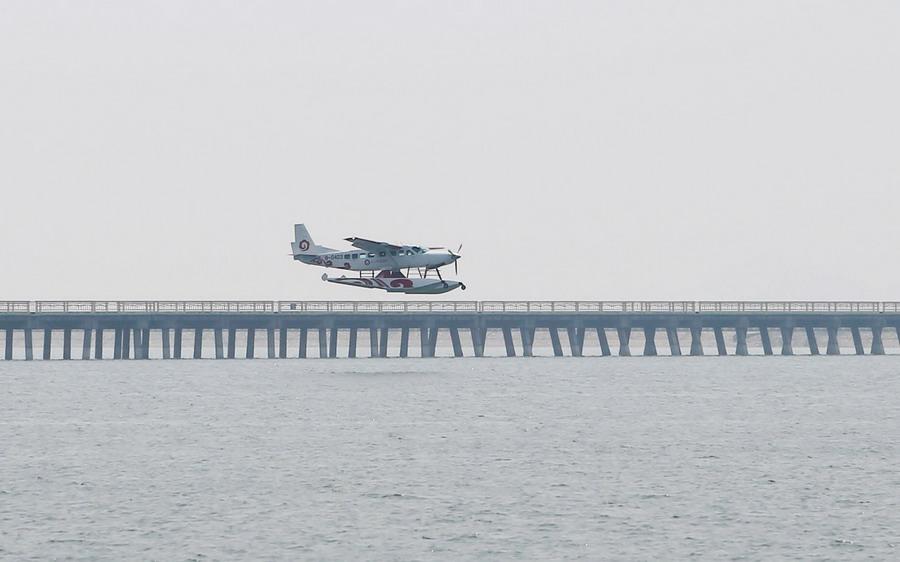 舟山幸福通航水上飞机在上海金山成功起降【4】