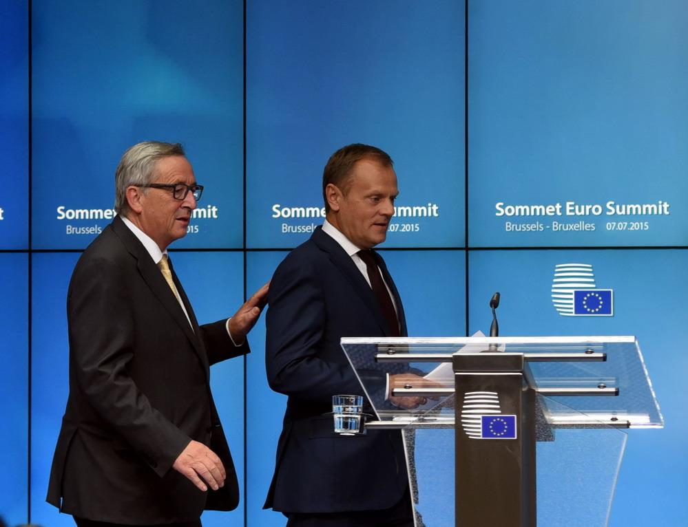日晚结束,欧盟领导人在峰会后的新闻发布会上说,希腊应最晚9日图片