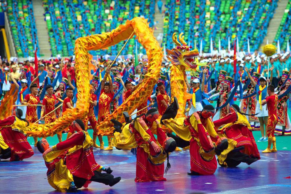 日,第十届全国少数民族传统体育运动会在内蒙古自治区鄂尔多斯