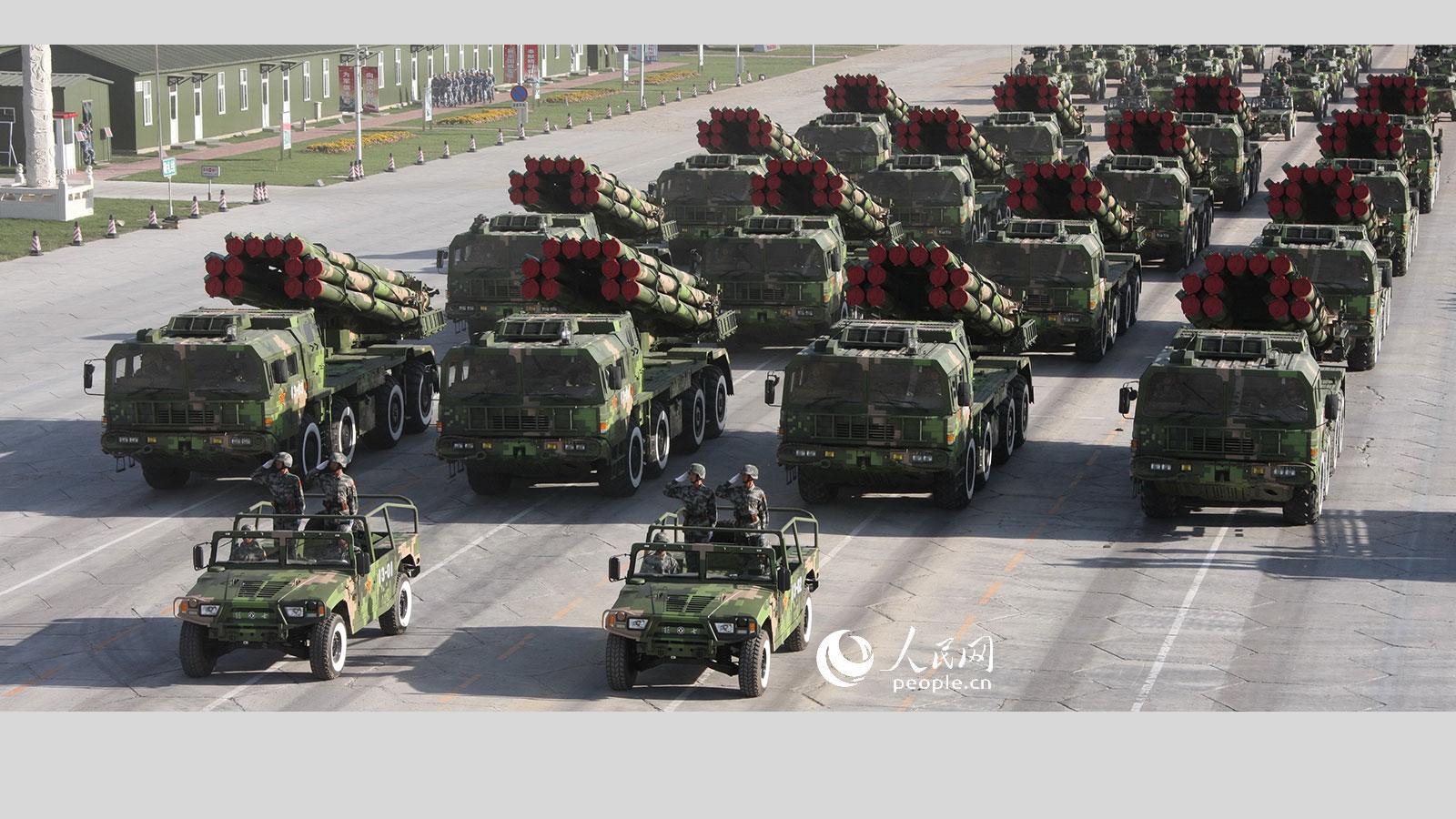 远程火箭炮方队_