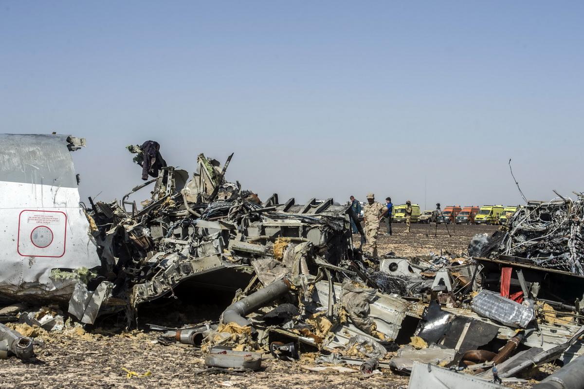 俄罗斯客机失事现场