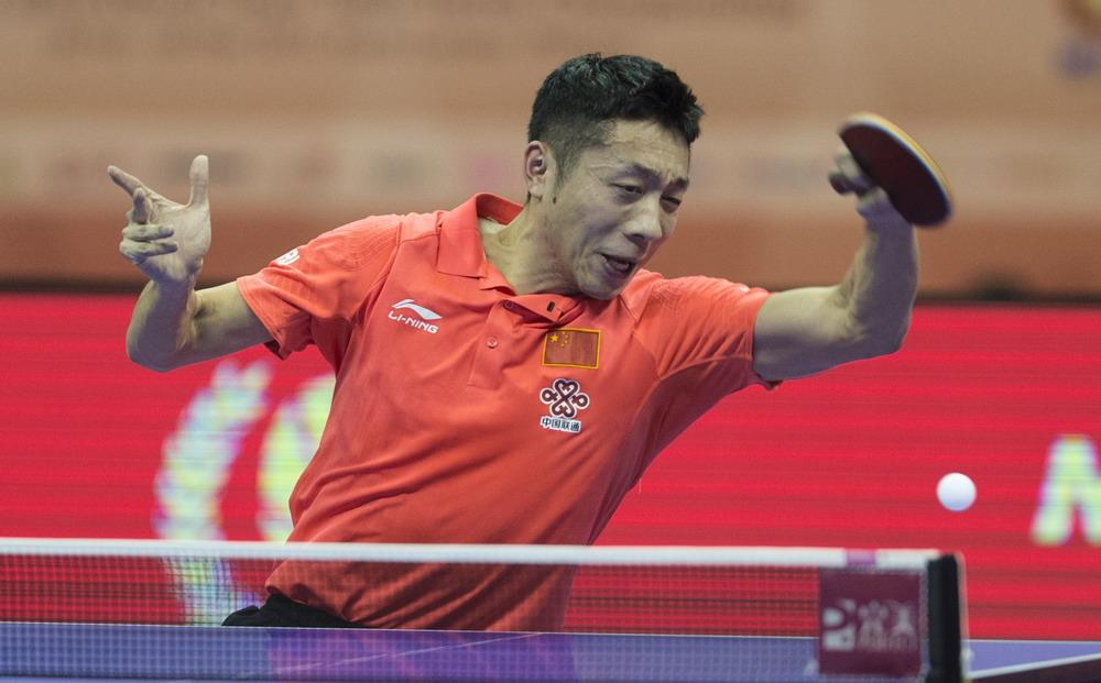 乒乓球--世锦赛团体赛:中国男队晋级四强