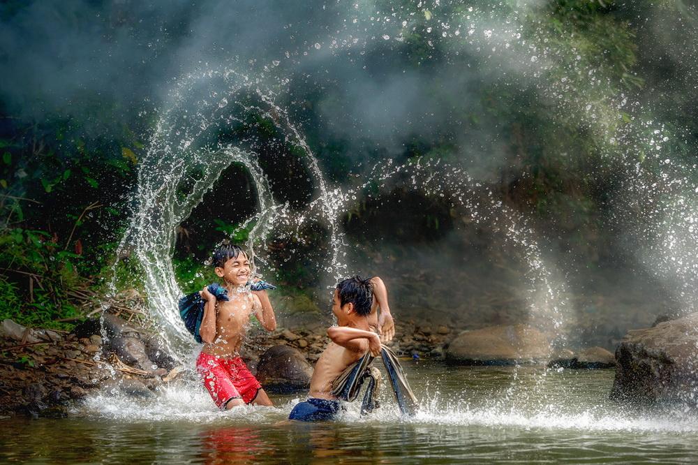 镜头印尼,悠闲乡村 吴波摄影作品