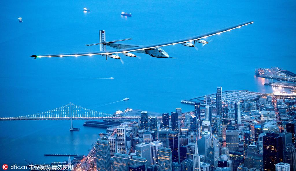 飞越太平洋!全球最大太阳能飞机抵达旧金山