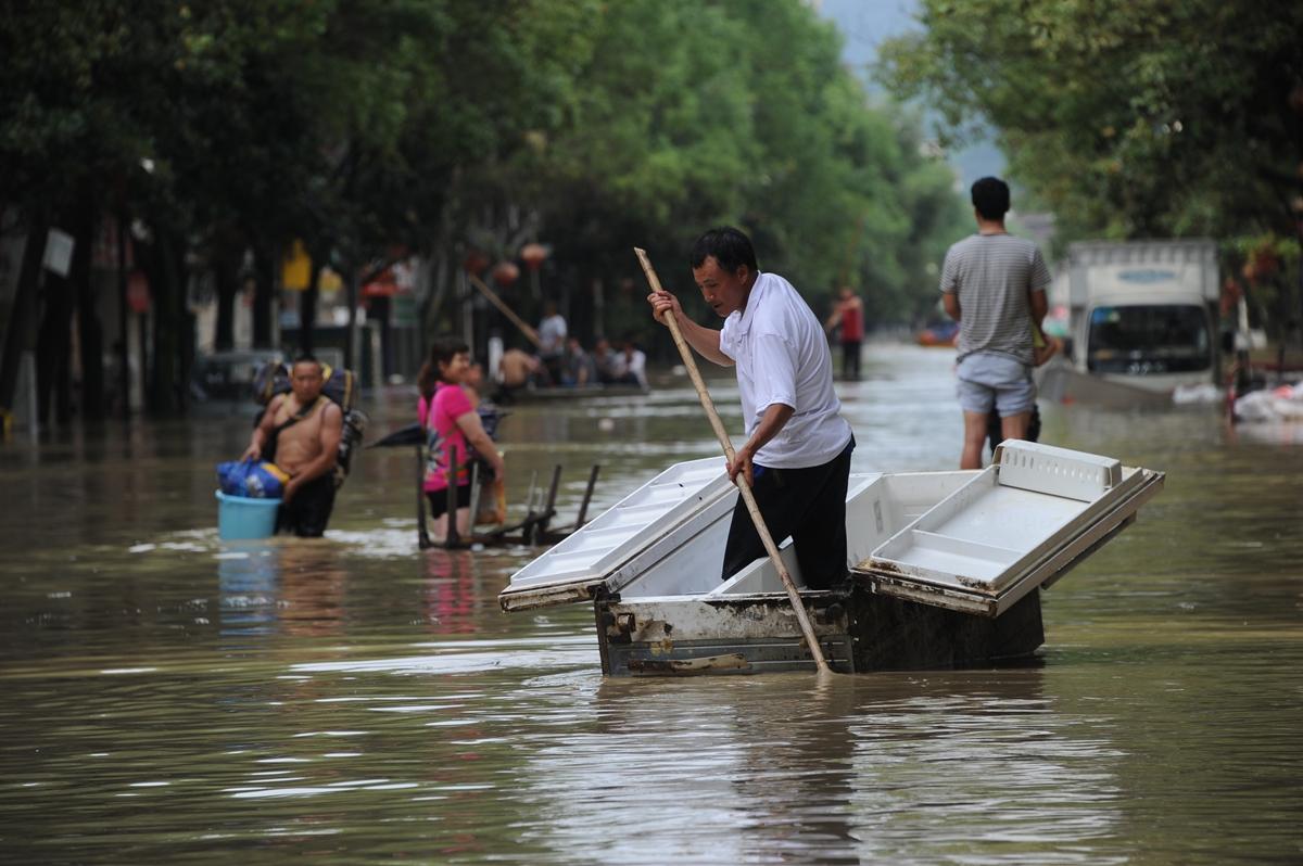 湖南湘西暴雨引发山洪 逾3千人转移
