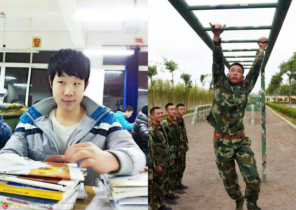"""""""95后""""新兵,他们於2015年入伍,在下队前经过三个月的""""成人图片"""