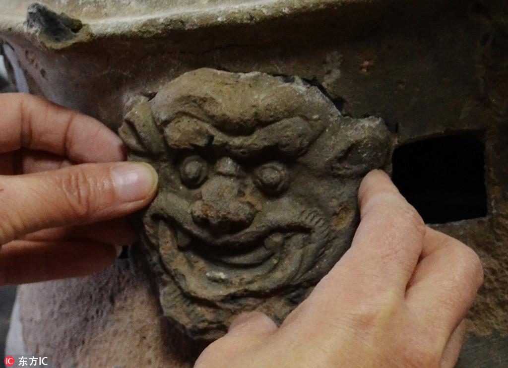 宣化发现一处辽代墓群 彩绘墓顶保存完好