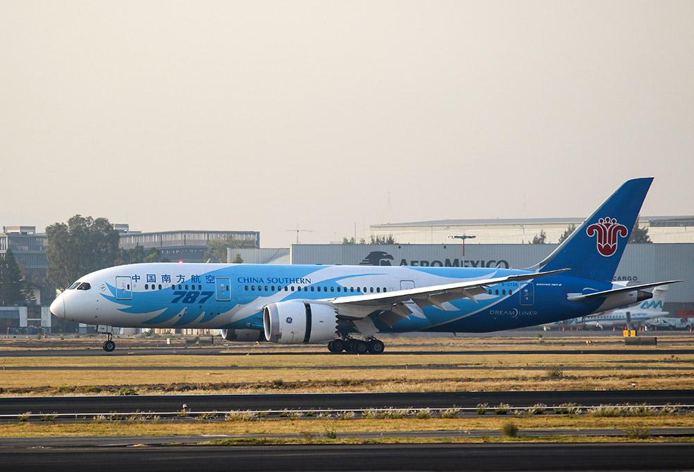 中国南方航空公司一架波音787客机在墨西哥