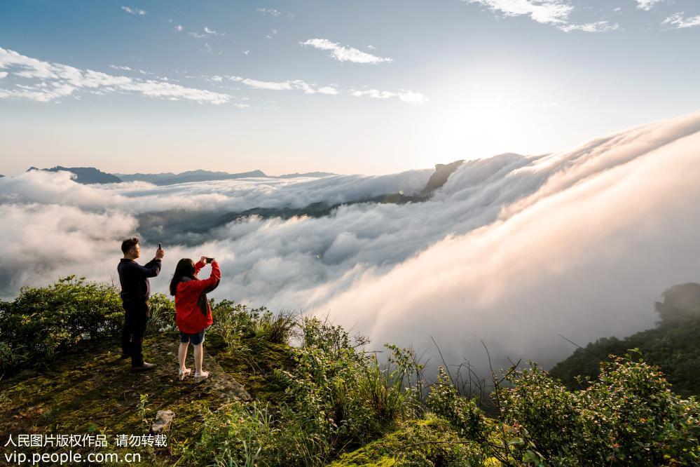 南川  莽蛇_重庆南川:金佛山现云瀑景观 云雾翻滚气势磅礴--图片频道--人民网