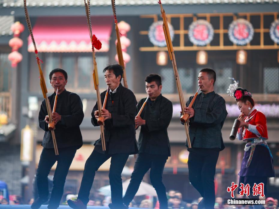 贵州芦笙舞高手丹寨竞技