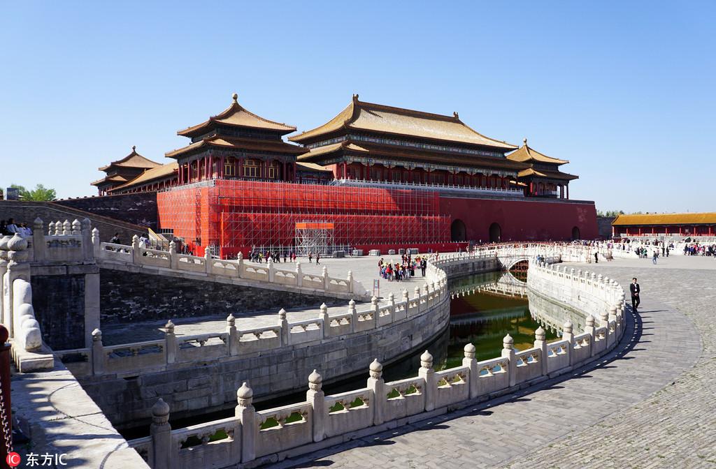 北京故宫对古建筑及地砖大面积修缮 下半年启动养心殿修缮工程