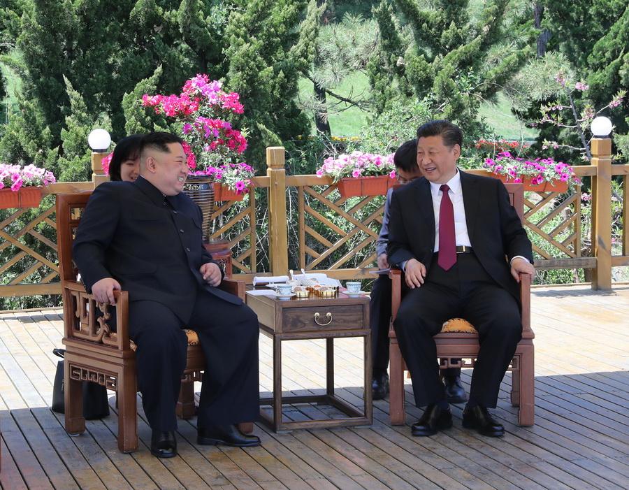 (时政)(1)习近平同朝鲜劳动党委员长金正恩在大连举行会晤