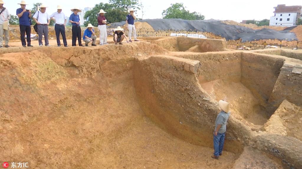 广西贵港考古重要发现 旧城区挖出汉代护城壕