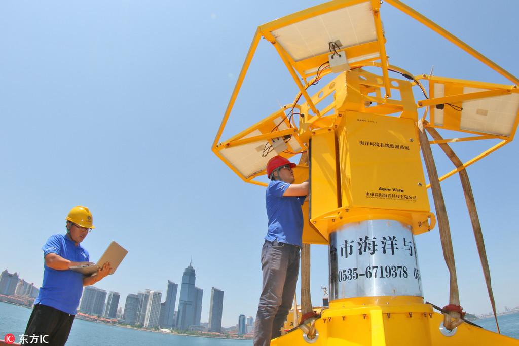 浮标式海洋环境在线监测系统在山东烟台投入使用