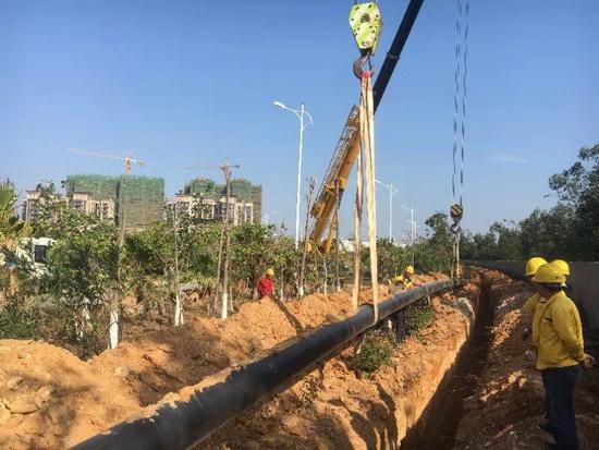 泉州市:西三线天然气高压管网 利用工程建设加快提速