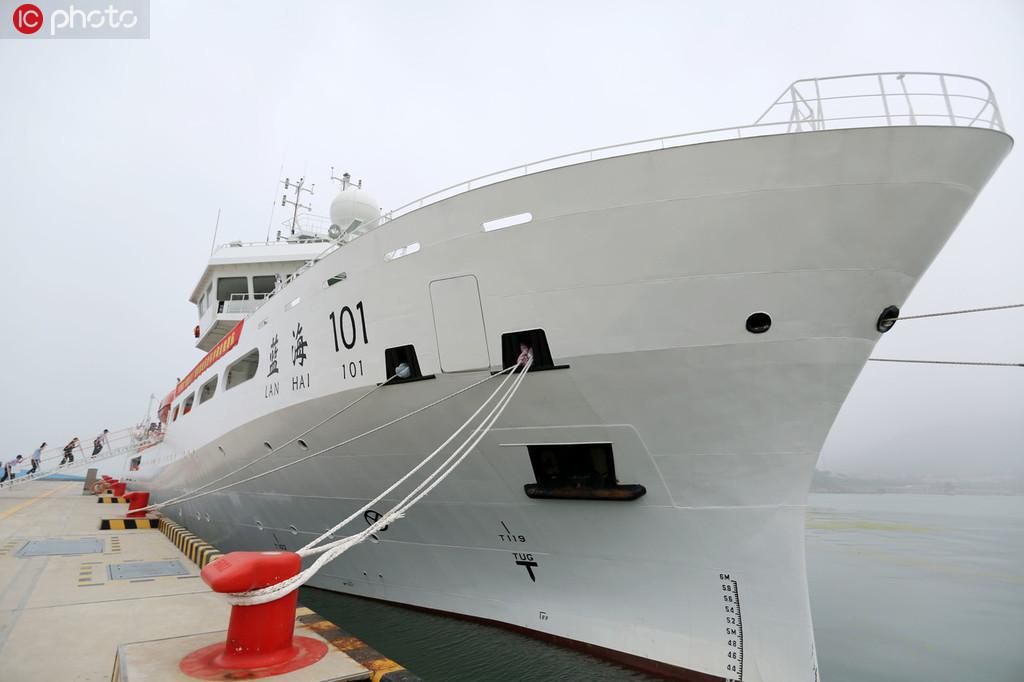 """""""蓝海101""""号即将从青岛母港首航。"""