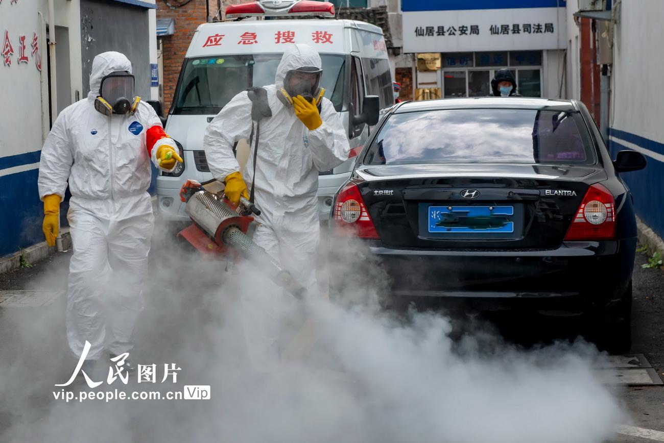 浙江:喷洒消杀药物 确保防疫无死角