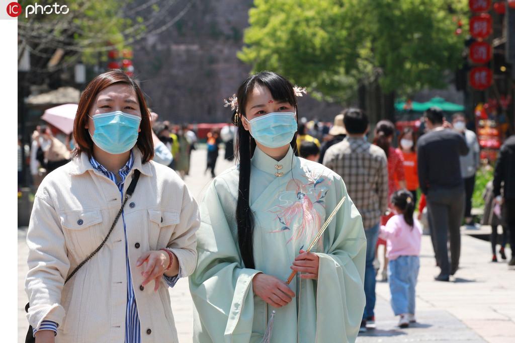 南京周末气温达27度 老门东人气旺