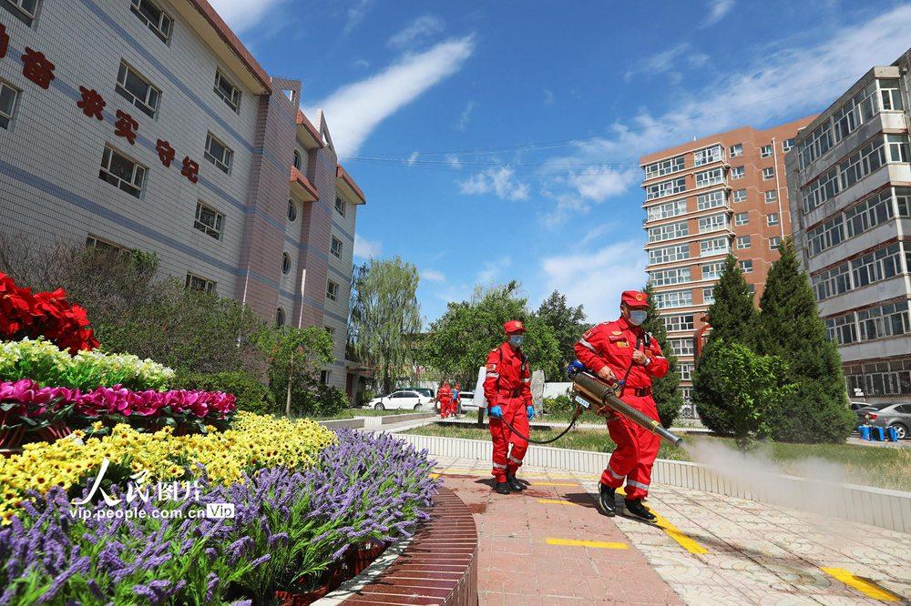 河北张家口:全面消杀 确保校园安全