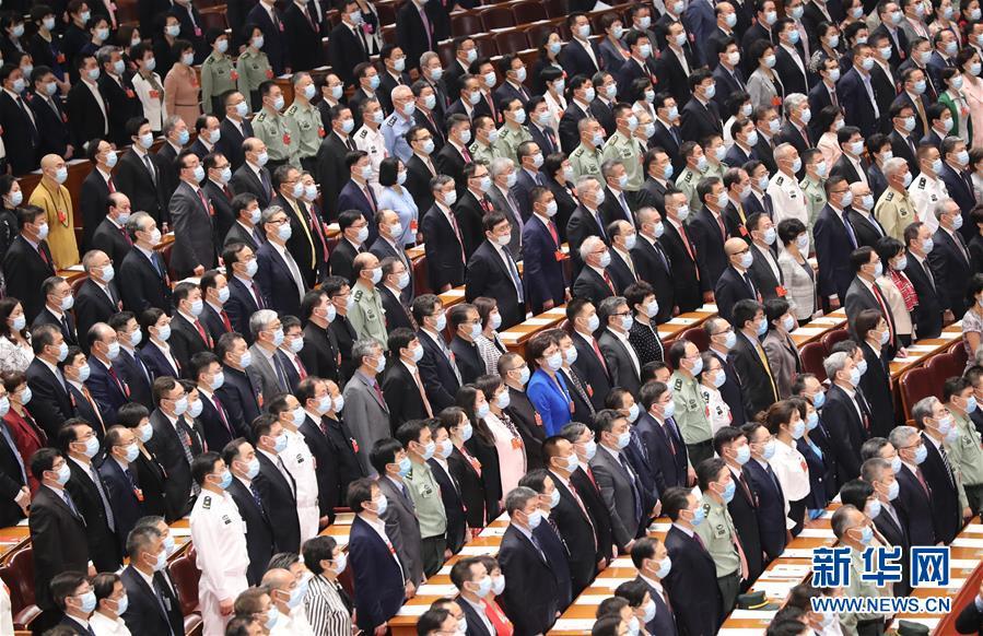 5月21日,中国人民政治协商会议第十三届全国委员会第三次会议在北京人民大会堂开幕 。 新华社记者 丁林 摄