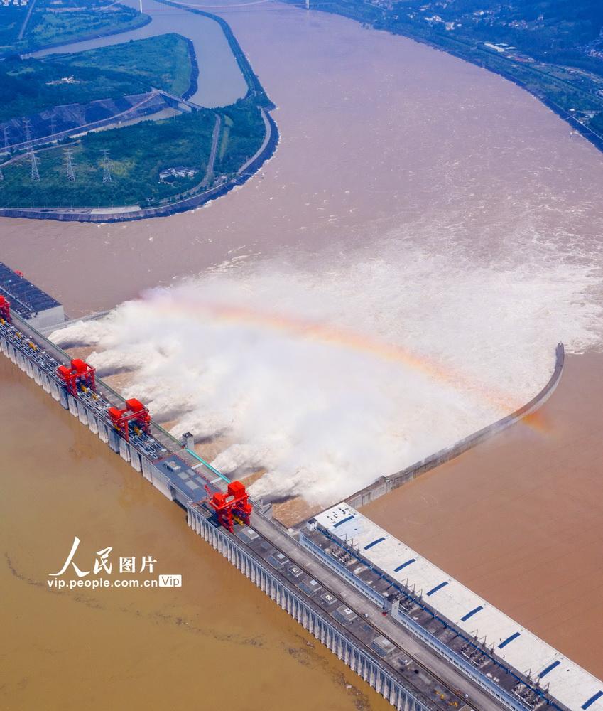 长江第3号洪水安然通过三峡大坝【2】