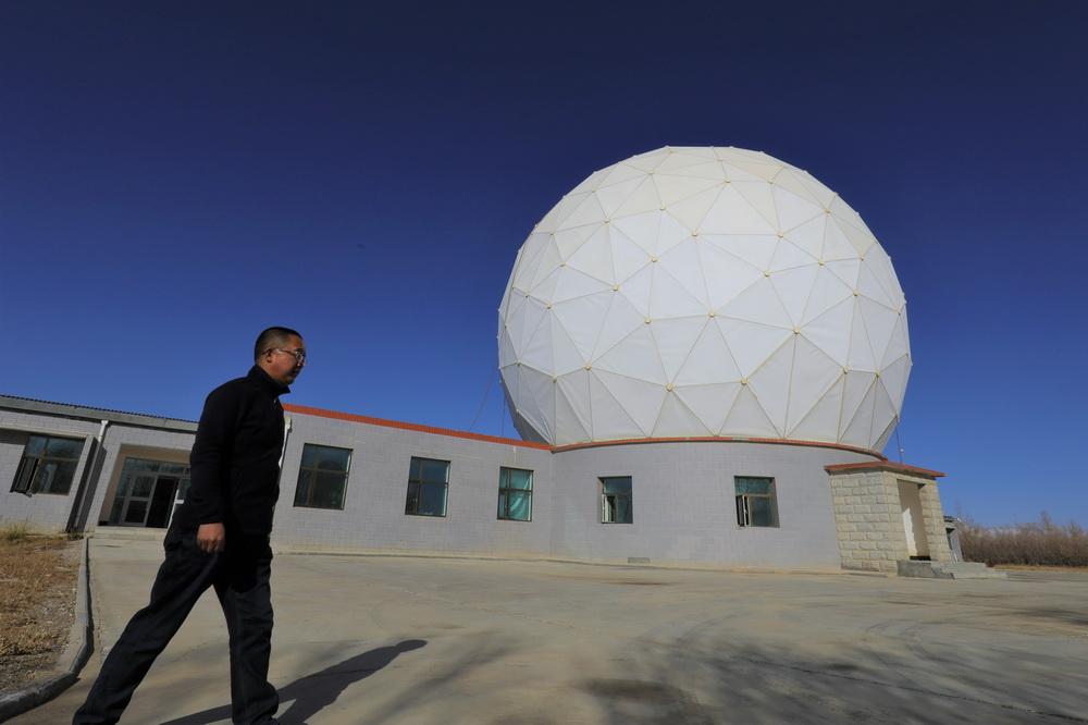 10月28日拍摄的中国科学院紫金山天文台青海观测站一角。