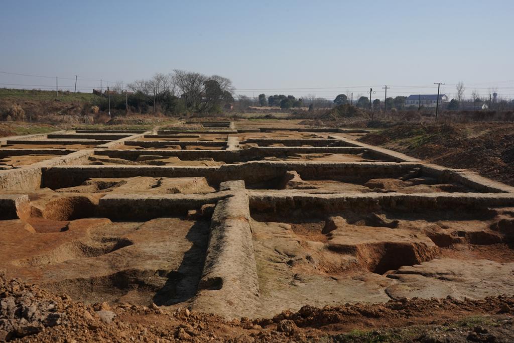 这是罗子国城遗址(罗城遗址)小洲罗地点考古挖掘现场(1月9日摄)。 新华社记者 李紫薇 摄