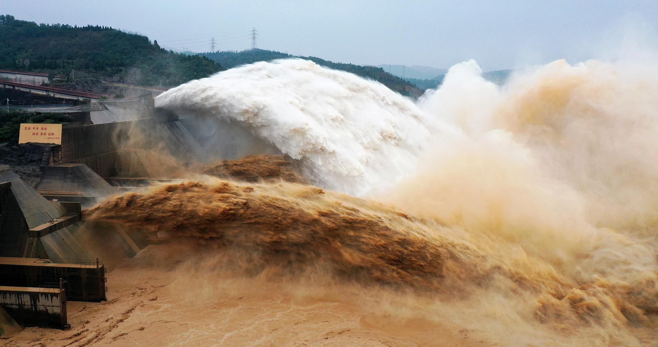 河南洛阳:小浪底水库创历史最高水位记录