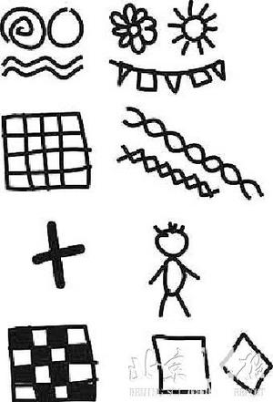 儿童抽象画太阳