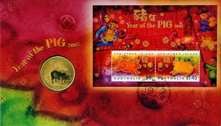 猪年儿童邮票简笔画