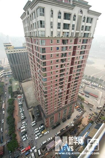 爆炸发生地:重庆朝天门基良广场B幢图片