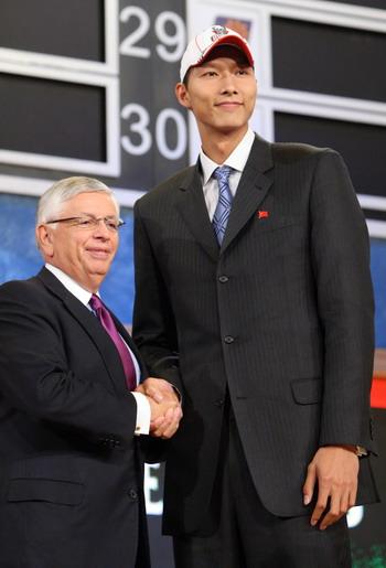 组图:2007年NBA选秀大会在纽约举行