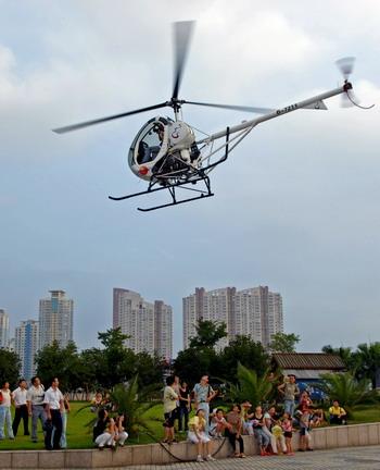执行飞行任务的是上海一家航空公司的直升机