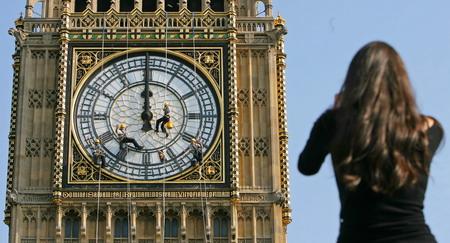 组图:伦敦大本钟将接受维修--图片--人民网