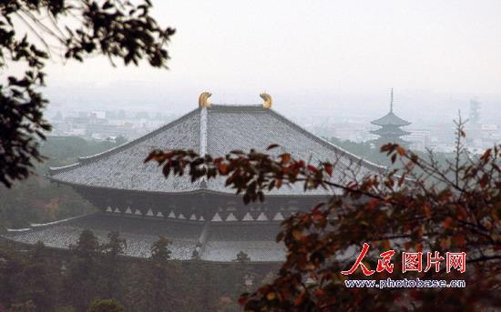 东大寺对面有兴福寺五重塔