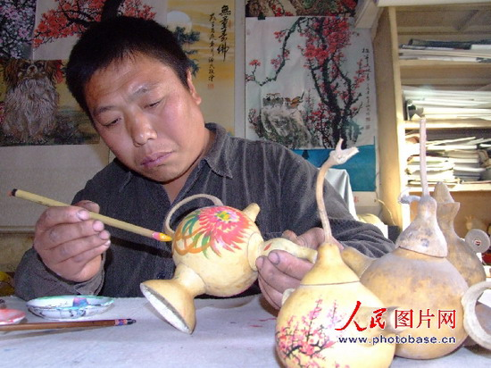 国外葫芦工艺品图片大全 精美的葫芦工艺品