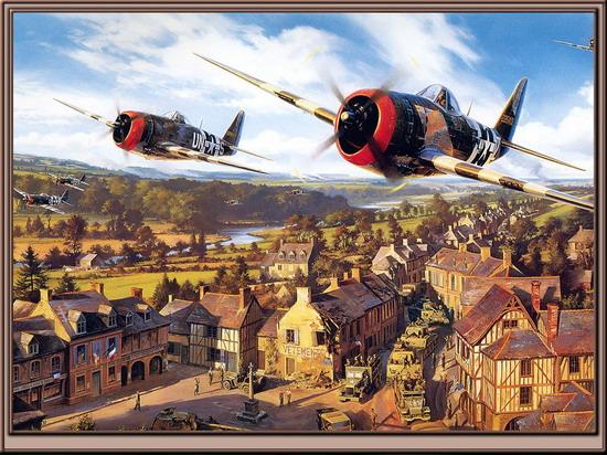"""美军p-47""""雷电""""战斗机&nbsp"""